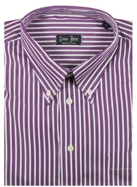 Gitman Sport Reverse Ground Stripes Purple On Sale: $115