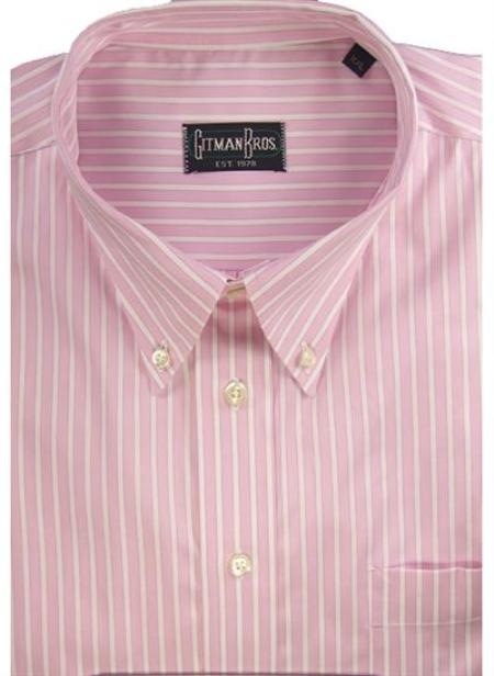 Gitman Sport Reverse Ground Stripes pink On Sale: $105