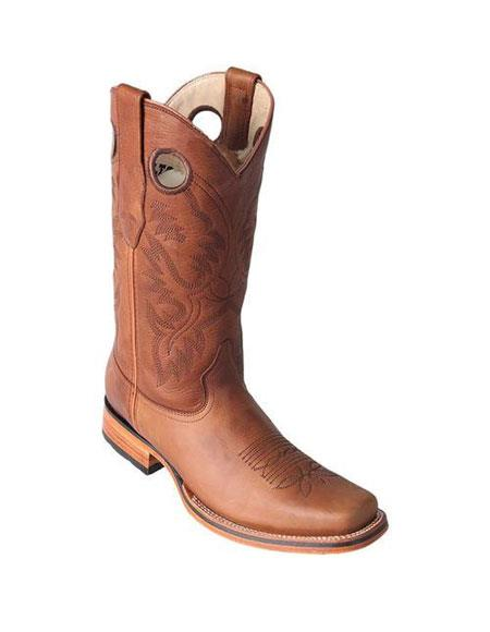 Men's Los Altos Boots Handmade Honey Double Stitched Full Leather Lining Dress Cowboy Boot Cheap Priced For Sale Online
