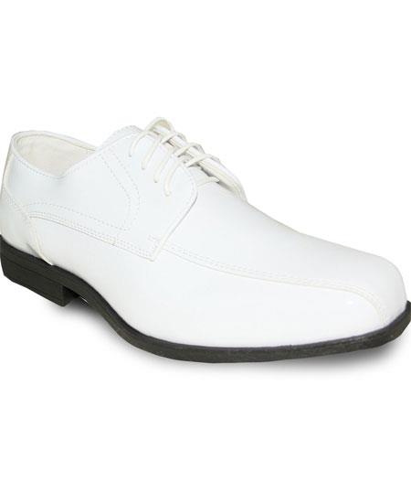 Men's Square Toe Oxford White Lace Up Tuxedo Dress Oxford Shoe For Men Perfect for Wedding