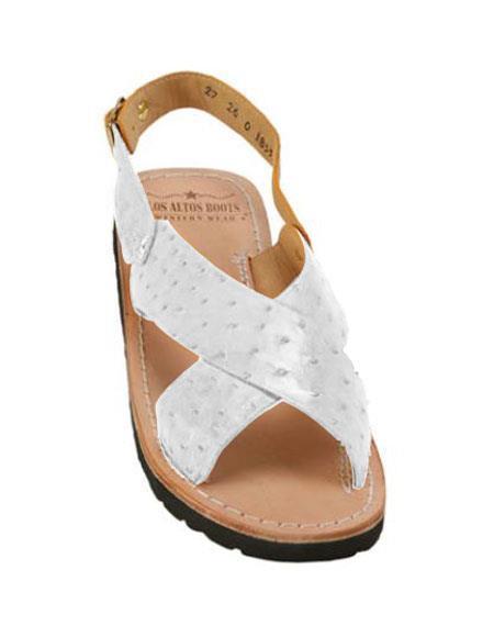 Mens Exotic Skin Sandals in ostrich or World Best Alligator ~ Gator Skin or Stingray skin in White or Black or Red or Tan or Brown or Copper or Olive colors Custom Make Pre order