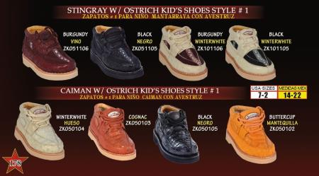 SKU#JHN7 Oxfords High Top Exotic Skin Sneakers for Men Los Altos Kids Genuine Stingray/caiman ~ alligator w/ Ostrich Lace Up Casual Exotic Shoes