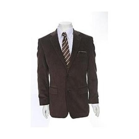 MensUSA.com Stylish Mens Two button Corduroy Brown Jacket(Exchange only policy) at Sears.com