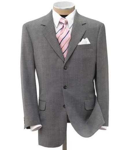 SKU# ZTK77 Super 150 Wool Light Gray Mens premier quality italian fabric Dress Suit $175 Compare at $995