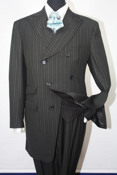 SKU#TR9092 Super 140s Wool Blend Vested Wide Leg Pants Fashion Suit Available in 4 Colors $149