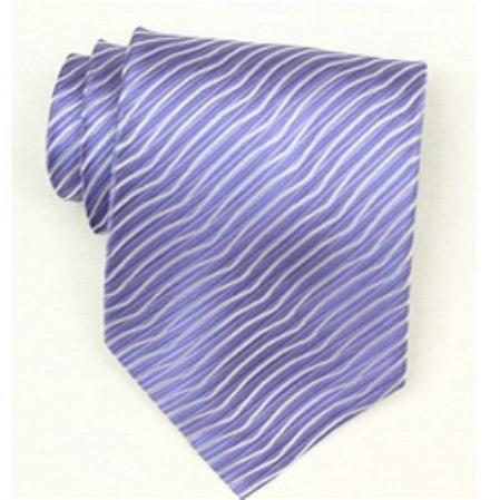 SKU# Sw460AL  Silk Lavender Extra Long Woven necktie $39