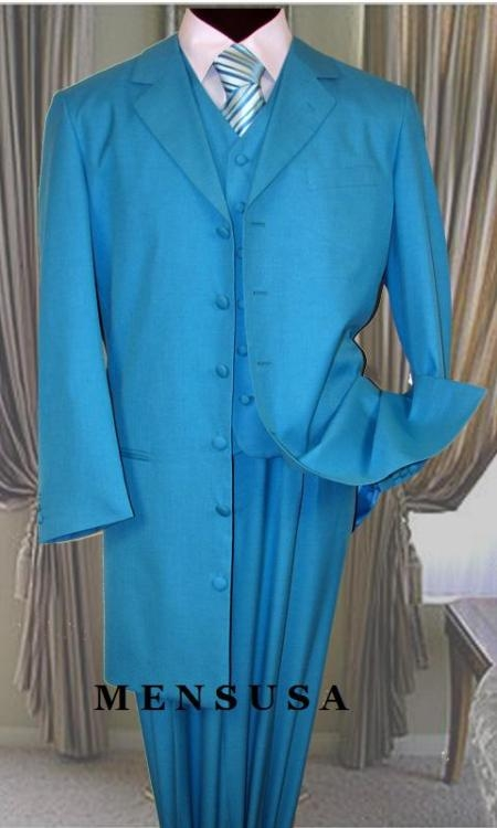 SKU#73PP TURQUOISE FASHION ZOOT SUIT 38INCH Long Jacket $139