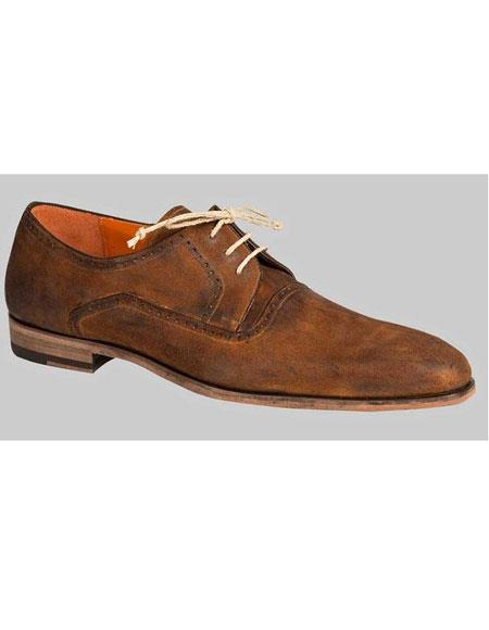 Buy GD467 Men's Tan Italian Wingtip Oxford Leather Lace Shoes Authentic Mezlan Brand