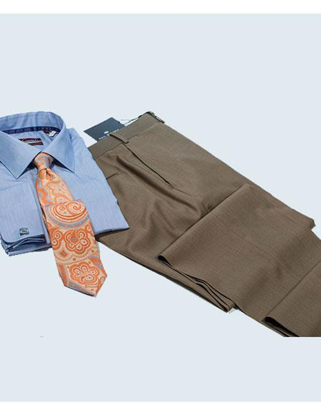 Buy AP220 Color Matching Shirt & Tie & Wool Dress Pants Package Choice Colors Mention Comment Section