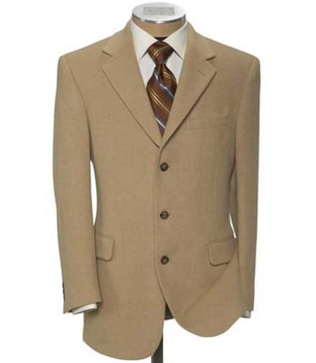SKU# HK62 Tan ~ Beige Super 120s Wool