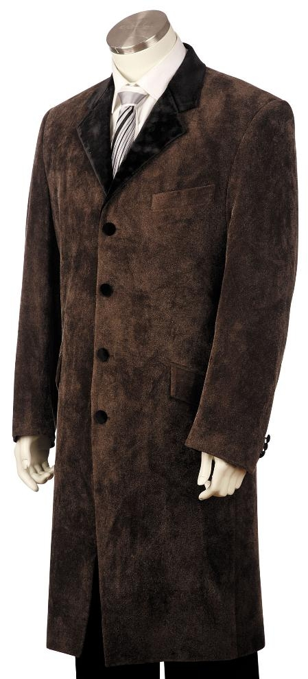 Mens Long Fashion Zoot Suit in Taupe