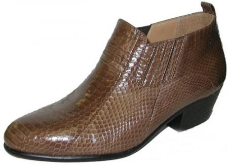 Genuine Snakeskin Boots Taupe