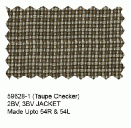 SKU#BF452 Taupe Checker Blazer $149