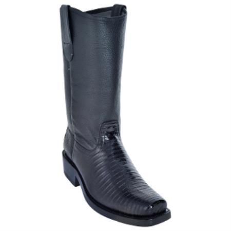 Lizard Biker Boots With