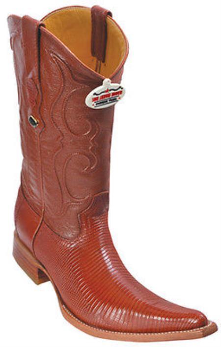 Lizard Leather Cognac Brown