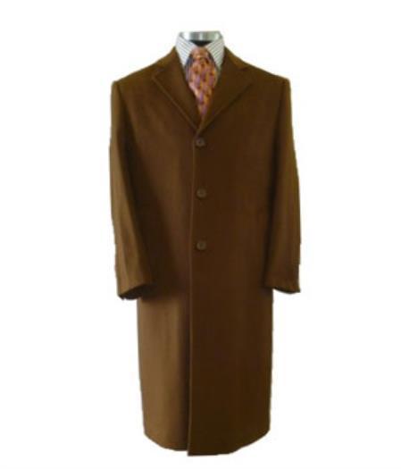 Mens Overcoat Mens Dress Coat Vicuna ~ Light Brown ~ Rust ~ Copper ~ Cognac Mixture Dark Camel Long Men's Dress Topcoat -  Winter coat  Full Length 95% Wool