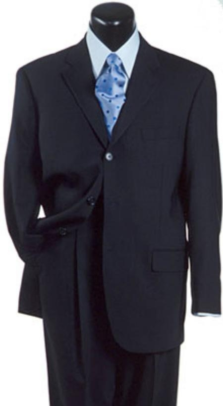 Navy Blue Suit For Men Double Vent Super 140s Wool premier quality italian fabric Design