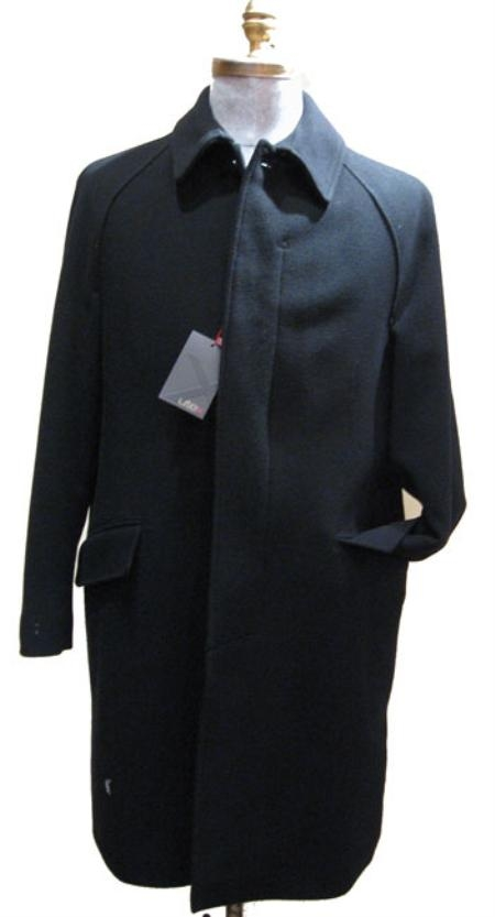 SKU#Ryan 38 inch three button single breasted coat center-vent Full-length Dress Overcoat