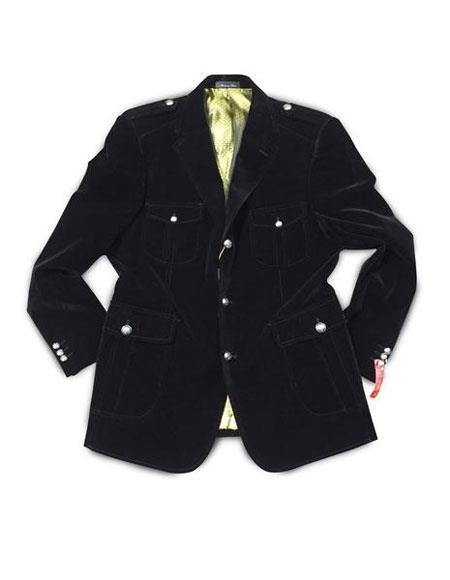 Men's Black 3 Buttons Cheap Priced Designer Fashion Dress Casual Blazer For Men On Sale Military Blazer