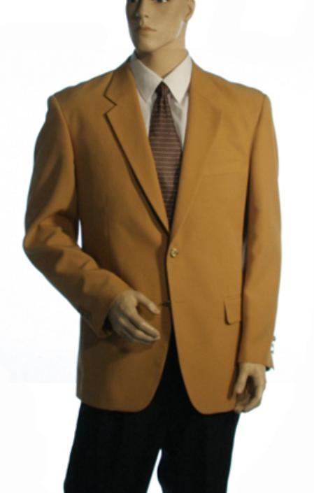 Single Breasted Available in Two Buttons Style Jacket Solid Gold Cheap Priced Unique Fashion Designer Mens Dress blazers Sale
