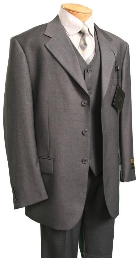 1900s Edwardian Men's Suits and Coats Heather Gray 3 button Single Breasted $139.00 AT vintagedancer.com