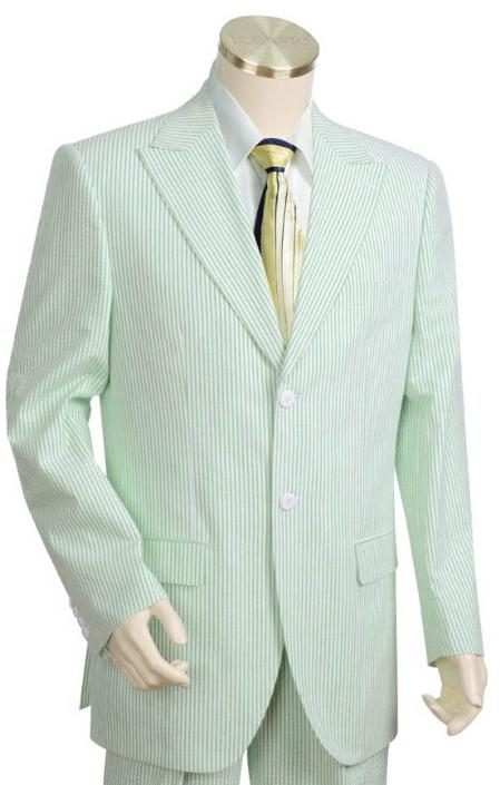 Mens 3 Buttons Suits For Men Style Comes in White lime mint