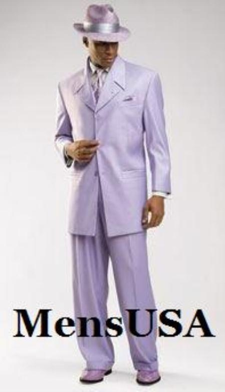 SKU# TNP797 Beautiful Mens Lavender Fashion Dress With Nice Cut Smooth Soft Fabric Pastel Color 3 Button Style Jacket Plus Pants