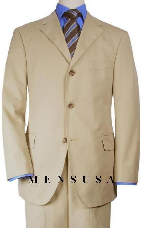 Solid Tan ~ Beige~Beige Quality Suit Separates, Total Comfort Any Size Jacket&Any Size Pants