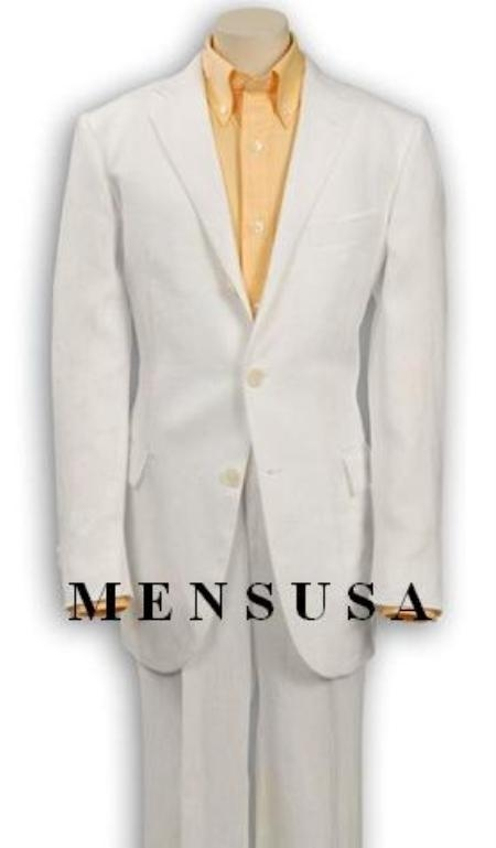 SKU# SJH390 Top Quality Boys Solid White 3 Buttons Worsted Light Weight  Suit $75