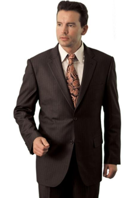 SKU#HD4847 Trueran-Viscose Men's Black Classic affordable suit online sale