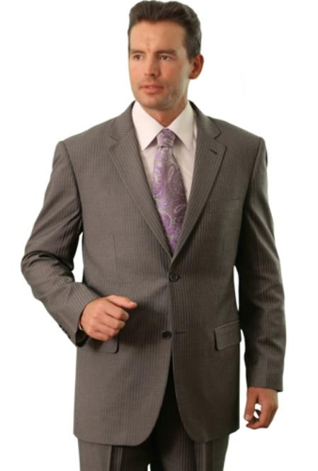 SKU#YL2841 Trueran-Viscose Mens Black/Lav Classic affordable suit online sale $109