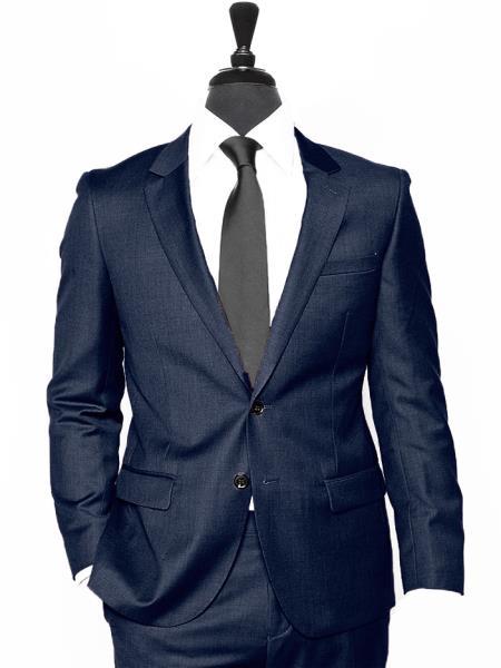 Alberto Nardoni Two Button Dark Navy Blue Suit For Men Vested 3 Pieces Summer Linen Wedding/Groom/Groomsmen Suit Jacket & Pants & Vest Suit