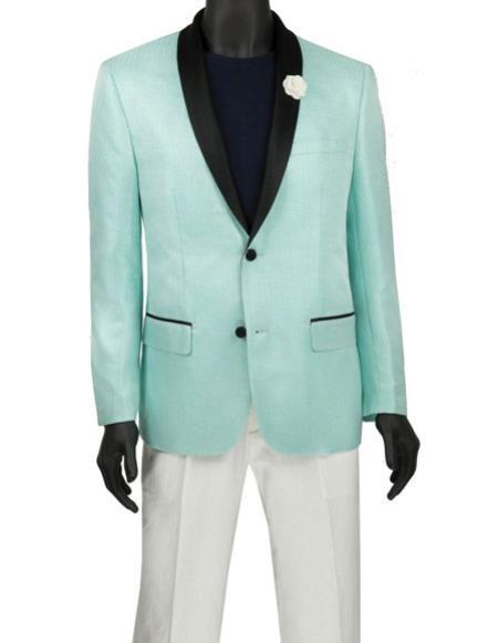 Mens Fashion Aqua Blazer ~ Sport Coat ~ Tuxedo Dinner Jacket