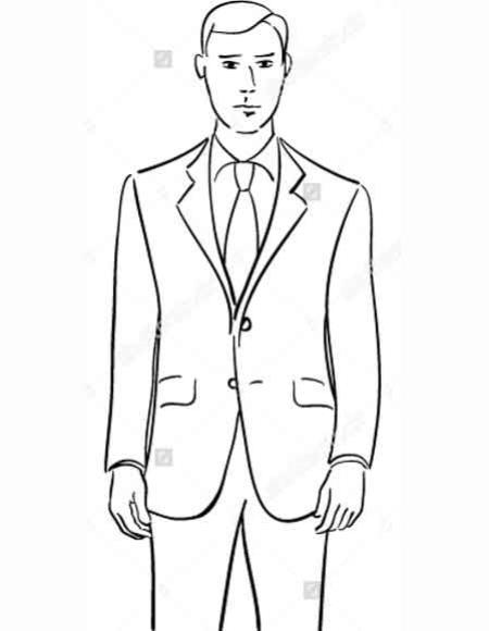 Buy SM2807 Demantie Men's Black Wool Slim Fit Notch Lapel Single Breasted Two Button Closure Suit
