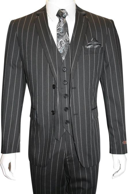 Two-Button-Black-Color-Suit