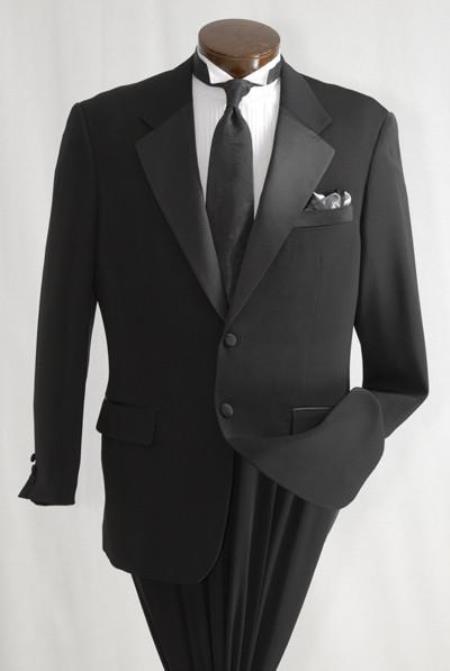 Mens Inexpensive 2 Button Tuxedo