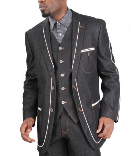 Fashion Two Button Cotton