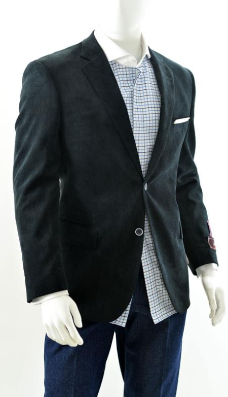 Mens Two Button Sport Jacket Blazer Coat Corduroy Side Black Also available in boys sizes