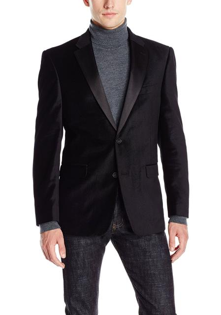 Cheap Priced Black Big And Tall Blazers Clearance Velvet ~ Mens blazer Jacket / Sport Coat