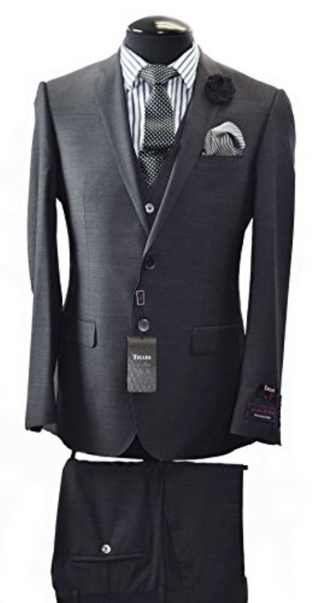 Buy SS-1485 Tiglio Italian Two Button Slim Fit Suit & Vest
