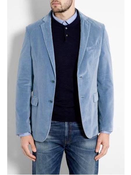 Mens Sky Blue ~ Light Blue ~ Baby Blue Mens blazer Sport Coat Jacket