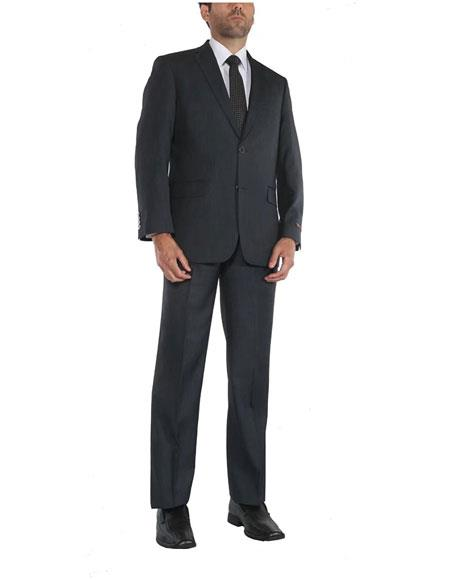 Mens 2 Button Single Breasted Two-Piece Classic Fit Blue Cheap Priced Business Suits Clearance Sale