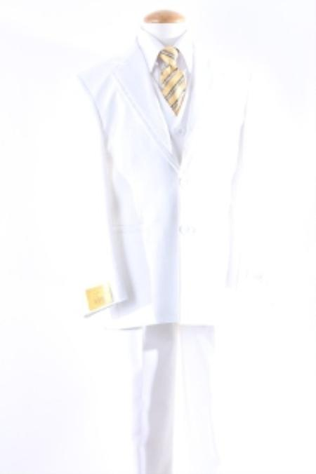 Mens White Two Button Flat Slacks With An Adjustable Waist Dress Suit