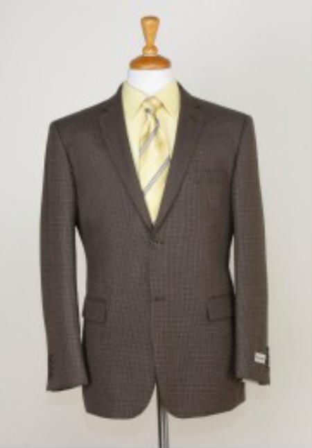 SKU#BH5291 Blazer Coat Mens Two button Slim Fit Sport Jacket Brown
