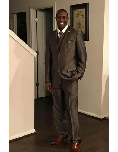 Alberto Nardoni Brown 2 Button  Suit