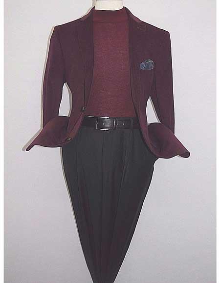 Men Notch Collar Corduroy 100% Cotton 2 Button Burgundy ~ Wine ~ Maroon Color Blazer Jacket