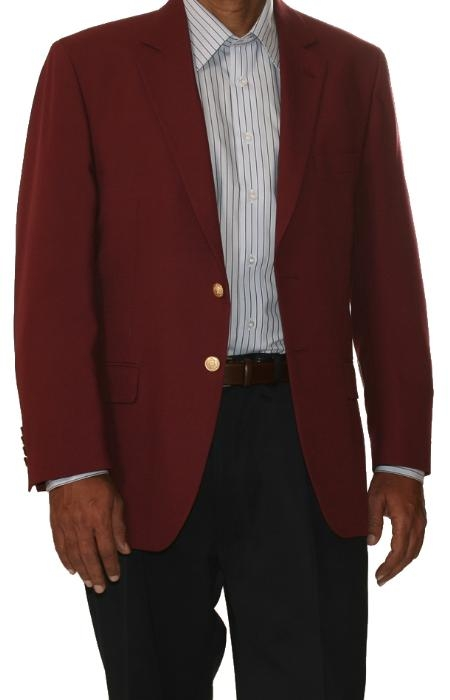 Two Button Cheap Priced Unique Dress Blazer Jacket For Men Sale Burgundy ~Maroon Suit~ Wine Color (Men + Women)