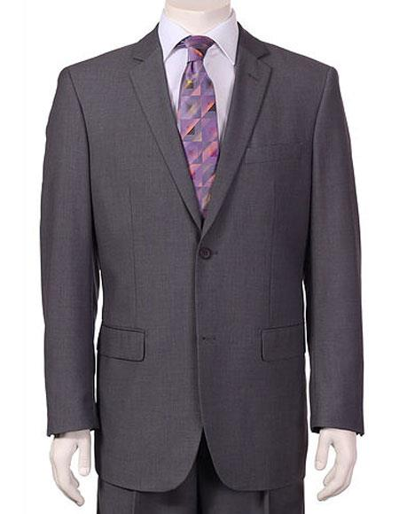 Mens Vitali Single Breasted Authentic 2 Button Charcoal Slim Fit Suit