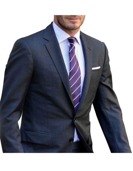Mens 2 Button Charcoal  Suit - Color: Dark Grey Suit