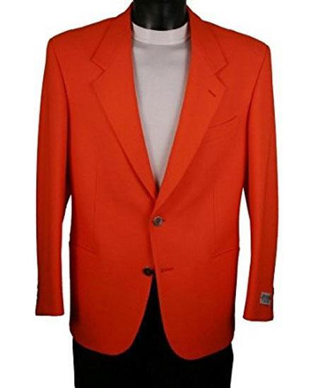 Buy GD1807 Men's Single Breasted 2 Button Notch Lapel Blazer Electric Red